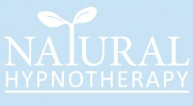 Natural Hypnotherapy logo on blue background